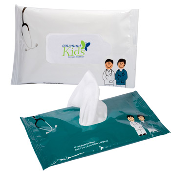 Doctor and Nurse Pouch Wipes