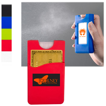 Silicone Wallet Sleeve w/ Sanitizer