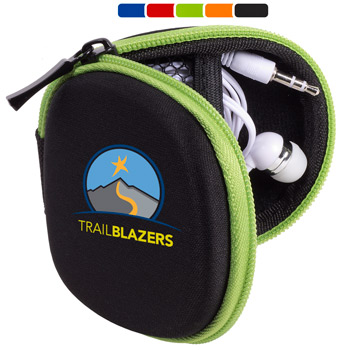 Tough Tech™ Pouch with Earbuds & Lens Wipe