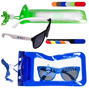 Matte Fashion Sunglasses & Waterproof Bag