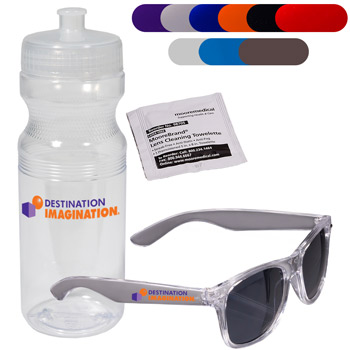 Fashion Sunglasses & Lens Cleaner in a Sports Bottle