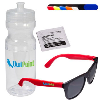 Matte Sunglasses & Lens Cleaning Wipe in a Sports Bottle