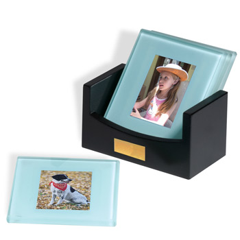 Atrium Glass Photo Coaster Set