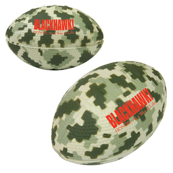 Camo/Digi Camo Football Stress Reliever - 3.5""