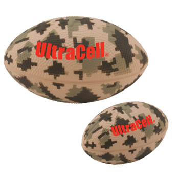 Digital Camo Large Football Stress Reliever – 5""