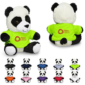 "7"" Plush Panda with T-Shirt"